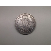 Moeda Hungria 1 Forint 1892 -kb- Prata