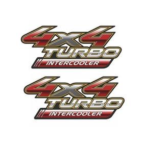 Par Emblema Adesivo 4x4 Turbo Intercooler Toyota Hilux 3 Ano