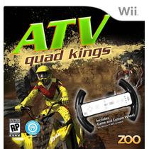 Atv Quad Kings + Volante Custom Wheel Lacrado - Nintendo Wii