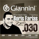 Jogo De Cordas P/ Baixo 6c 030 Giannini Boris Farias Ssbnbf6
