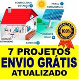 7 Projetos Gerador Eólico 5.500w 3.000w 1500w 1000w + Solar