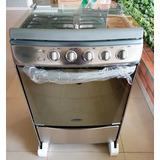 Cocina A Gas De 4 Hornillas En Acero Premium Rubí