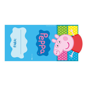 Convite De Aniversário Peppa Pig - 08 Unidades