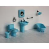 Miniatura Banheiro- Quatro Kits Artesanato Quadrinhos
