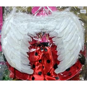 Alas De Angel Blanca De Plumas 45 X 35 Cm