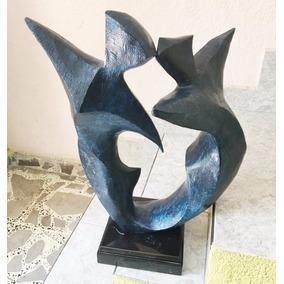 Lrc Pareja Bailando Hombre-mujer, Escultura De Bronce.