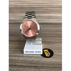 74199ead943 Relogio Mk Fundo Rosa Prata - Relógios De Pulso no Mercado Livre Brasil