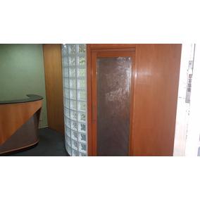 Porta De Correr De Madeira Com Vidro E Metal