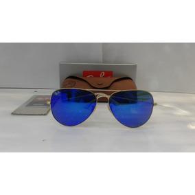fd875476f5538 São Paulo · Óculos De Sol Aviador Ray Ban 3025 3026 Lente Azul Original