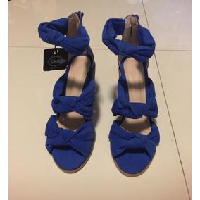 Sandalias Azules Dama Modernas