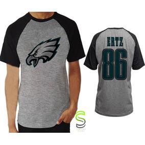 Camisa Camiseta Philadelphia Eagles Ertz Nfl Raglan ee769b86b23