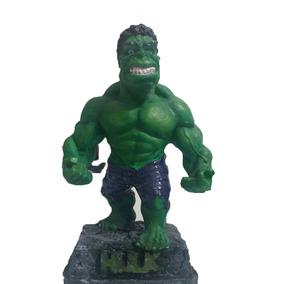 Hulk Marvel Vingadores Estatua Resina Artesanal 17 Cm Topppp