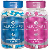 Alfacaps Kit 1 Frasco Dia E 1 Frasco Noite