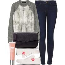 Sweater Piel Vizon Marca Basement (falabella)