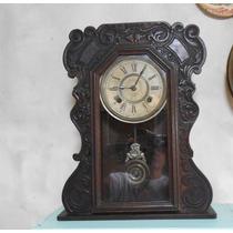 Antiguo Reloj De Pared Ansonia Péndulo Envíos F