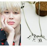 Bts Collar Dije Cadena Unisex Kpop Coreano Hiphop Moster