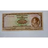Billete De 100 Bolivares De 1967, Serial T7