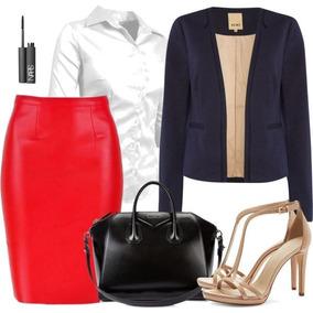 Saia+blusa +blazer Moda Evangelica E Executiva Cod#wdfg