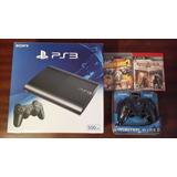 Playstation 3 Slim 500gb 2 Controles 2 Juegos