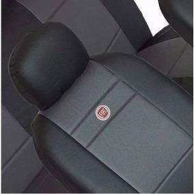 Capa Banco De Couro/tecido Palio 95 96 97 98 99 C/ Logo Fiat
