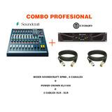 Soundcraft Crown Sistema Mezcladora Power Amplificador