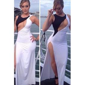 Vestido Largo Mujer Plata Ocasion Sexy Comodo Belleza