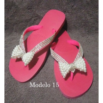 Sandálias Havaianas Customizado Personalizado Strass Pérolas