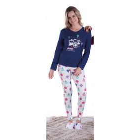 Pijama Adulto Feminino Inverno Longo Barato Dormir Quente