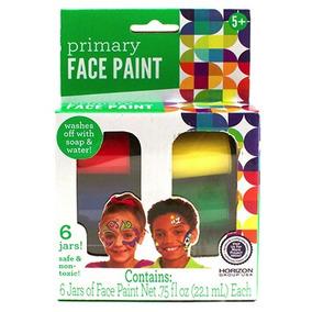 Face Paint 6 Tintas P/ Pintar Rosto E Corpo Crianças Adulto