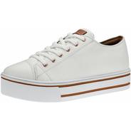 Tenis Casual Branco Star Feminino Plataforma Confortável All