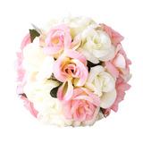Bola De Flores Cetim Rosa Creme