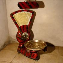 Antigua Balanza De Almacen Abanico 15 Kg Con Espejo Controla