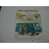 Folder Ford F100 E100 Furgao Van Econoline 62 1962 V8