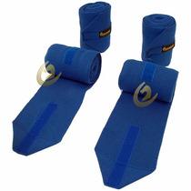 Liga De Descanso Para Cavalo - Jogo Com 4 Peças - Azul