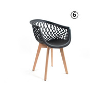6 Cadeiras Web Cloe Clarice Sidera Base Wood