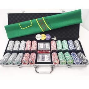 Maleta De Poker 500 Fichas Numeradas Kit Completo 2 Baralhos
