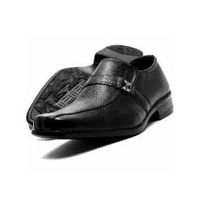 Sapato Social Infantil Preto Em Couro