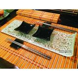 Set Sushi P/2 Personas- 8 Piezas + 2 Vasos Copa Sin Tallo