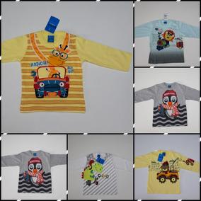 Camisetas Infantis Manga Longa Inverno - Tamanho 1, 2 E 3