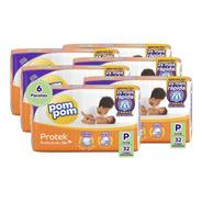 Kit Fralda Pom Pom Protek Proteção De Mãe Jumbo P 192 Un