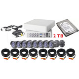 Kit Circuito Cerrado Epcom 8 Camaras 720p Disco De 2 Tb
