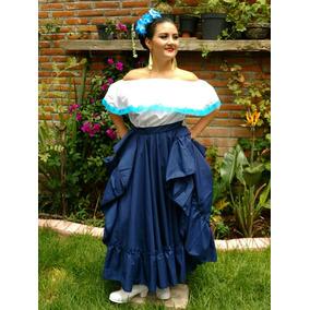 Falda Doble Circular Con Blusa Campesina.