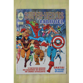 Super Heróis Marvel Em Ação Álbum Completo, Excelente Estado