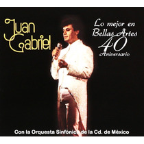 Juan Gabriel Lo Mejor En Bellas Artes 40 Aniversario Cd Dvd