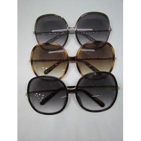 Óculos De Sol Quadrado Oc48 Armação Chumbo Lente Preta - Óculos no ... 92281f5c5f