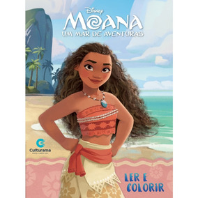 Livro Moana Disney - Ler E Colorir Médio - Culturama