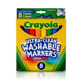 Canetinha Ponta Grossa Lavável 08 Cores Clássicas Crayola