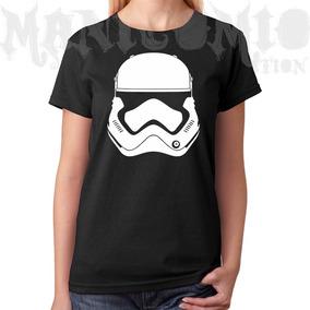 Camiseta Baby Look Star Wars Stormtroopers Capacete M2013