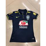 Nova Camisa Polo Seleção Brasileira Azul Feminina 2018 !!!