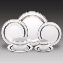 Jogo Jantar De Porcelana Silver Sky 42 Peças R 11029